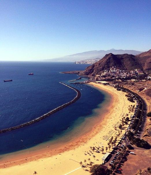 Пляж  Лас-Тереситас Playa de Las Teresitas